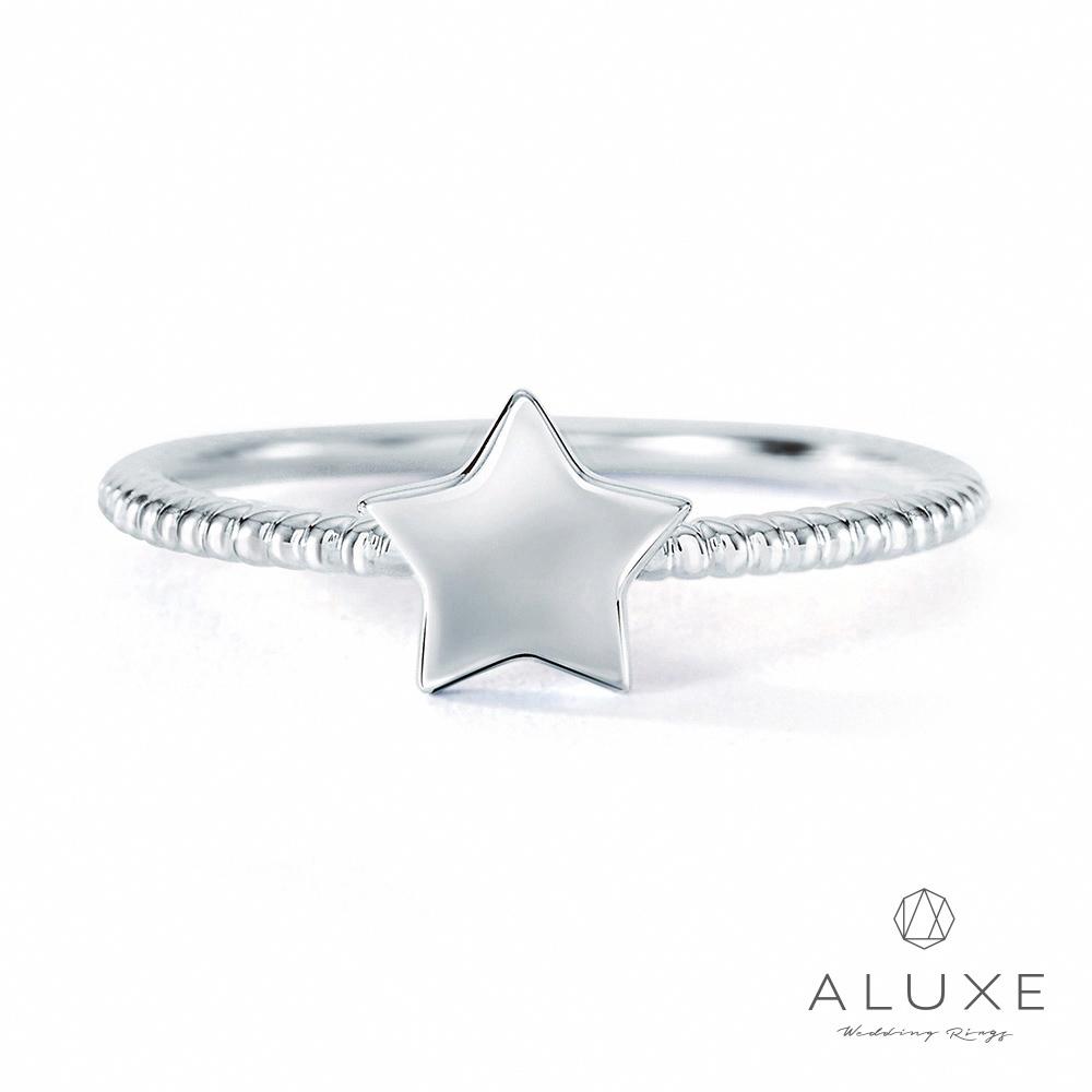 A-LUXE 亞立詩 14K金許願星星線戒