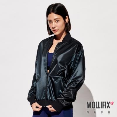 Mollifix 瑪莉菲絲 街頭光澤雙面穿外套 (黑)