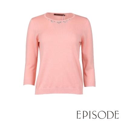 EPISODE - 簡約棉毛混紡針織上衣