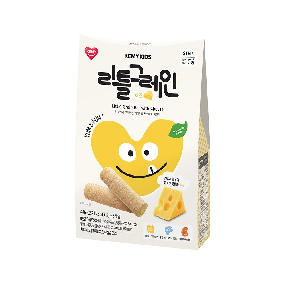 韓國【KEMY KIDS】貪吃凱米穀物小捲心 起司(40g)