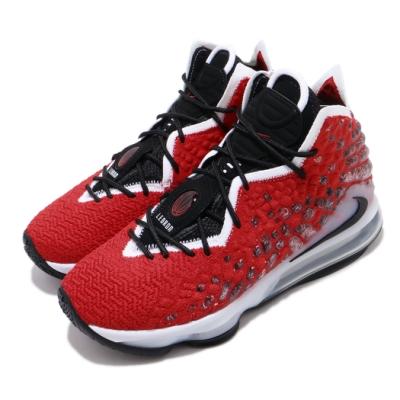 Nike 籃球鞋 Lebron XVII EP 高筒 男鞋 UPTEMPO 詹皇17代 氣墊 明星鞋 紅 彩 BQ3178601