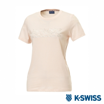 K-SWISS T-Shirt 韓版短袖T恤-女-粉紅