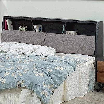 綠活居 菲爾時尚5尺皮革雙人床頭箱(不含床底)-152x29x105cm免組