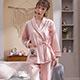 天使霓裳 暖陽愛戀 棉質二件式綁帶長袖孕婦哺乳套裝月子服(粉F) product thumbnail 1