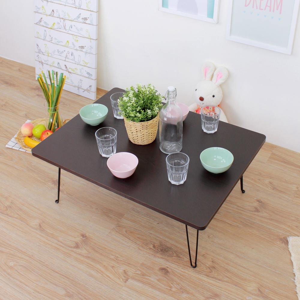 頂堅 折疊桌/和室桌/摺疊桌/矮腳桌/野餐桌-二色-寬80x深60x高31/公分
