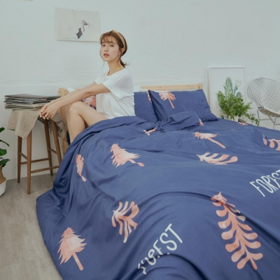 BUHO 乾爽專利機能單人床包+雙人薄被套三件組(微景森所)
