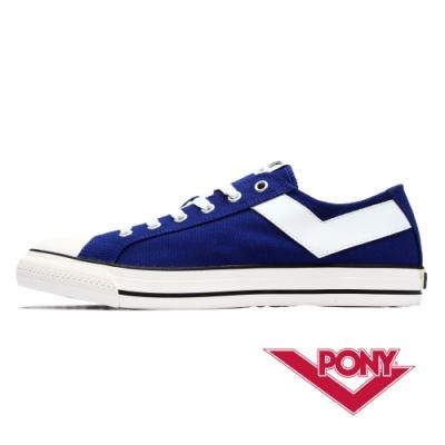 【PONY】Shooter系列百搭復古帆布鞋休閒鞋 男鞋-海藍