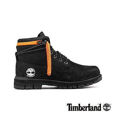 Timberland 男款黑色拉鍊領反摺靴|A24AD