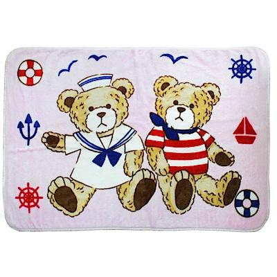 西川毛毯-水手熊童毯(2色可選)