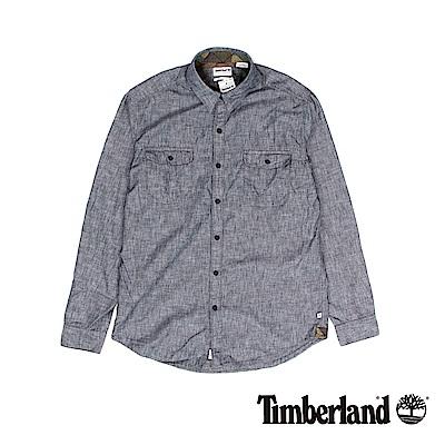 Timberland 男款暗藍色軍裝風修身版襯衫