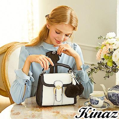 KINAZ 蕾絲洋裝兩用斜背包-黛安娜系列-快