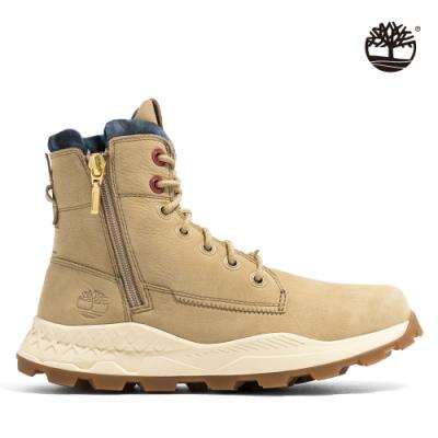 Timberland 男款卡其色磨砂革側拉鍊靴|A41AM