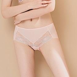 台灣製無痕蕾絲速乾透氣舒適 L-2XL 內褲 粉色 Clany可蘭霓