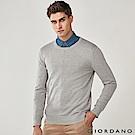 GIORDANO 男裝基本款簡約素色針織衫-06 雙絞標誌灰