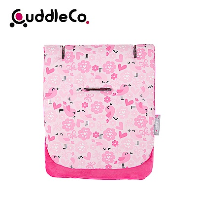 英國CuddleCo 純棉防震推車坐墊-粉紅鳥