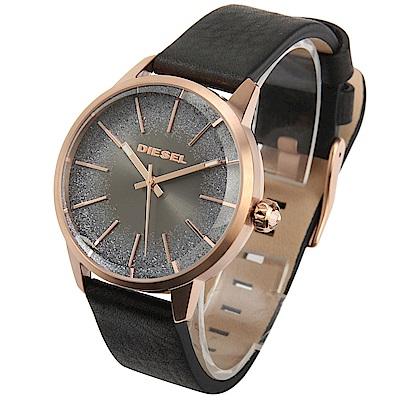 DIESEL Castilla 漸層星空女仕皮革腕錶-(DZ5573)-40mm
