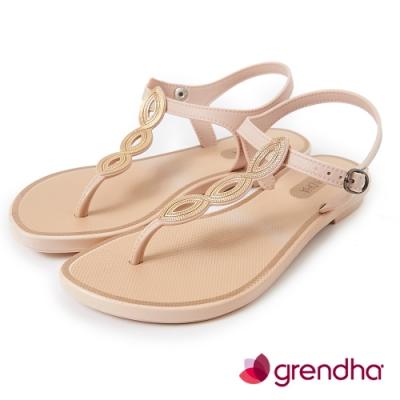 Grendha 典雅歐洲風平底涼鞋-米白