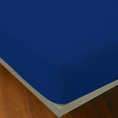 YVONNE COLLECTION 素面純棉床包(特大180x210公分)-深藍