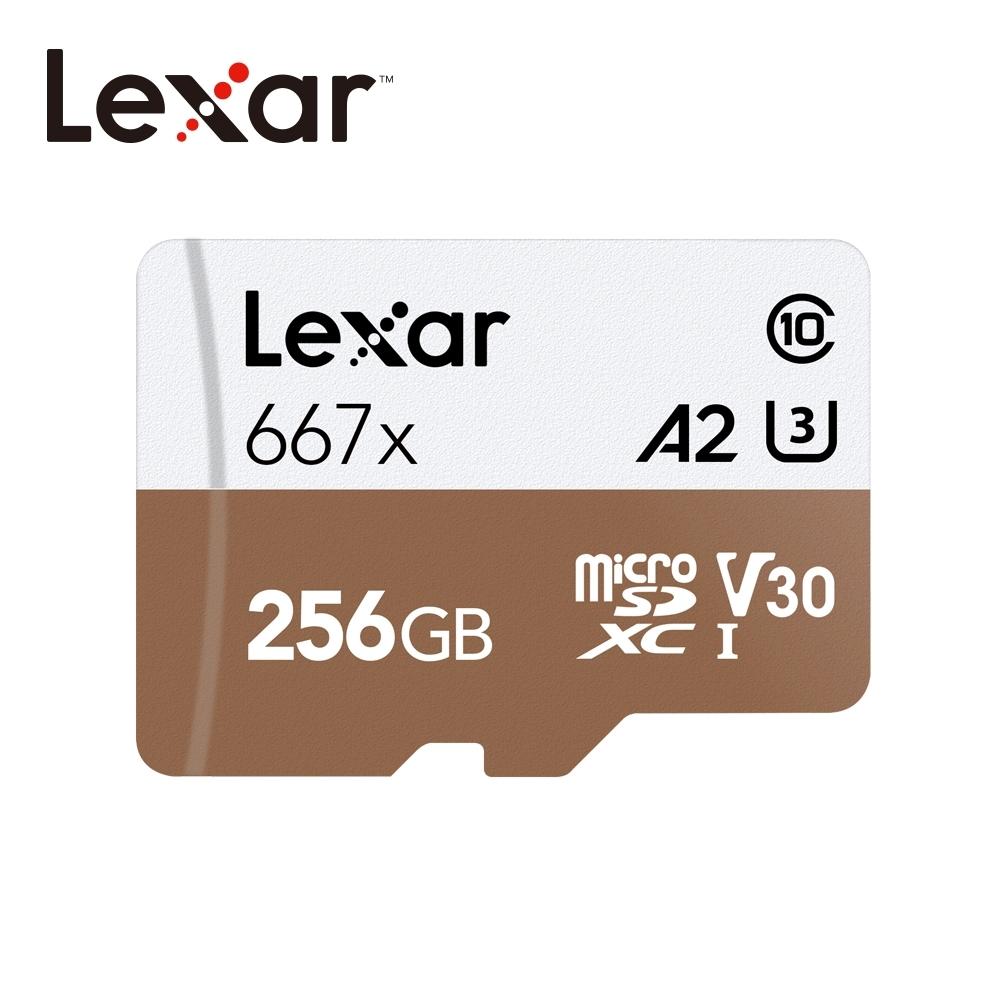 Lexar 667x microSD UHS-I 記憶卡256G 公司貨