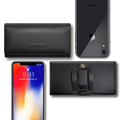 City For iphone XR 6.1吋 多功能美學腰掛皮套