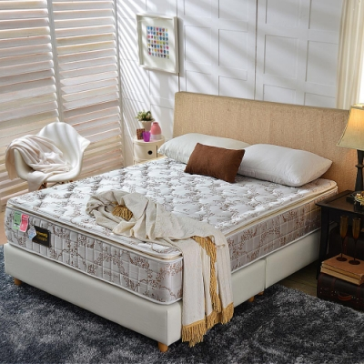 雙人加大6尺 真三線-涼感透氣抗菌-護腰型蜂巢獨立筒床墊-正反可睡Ally