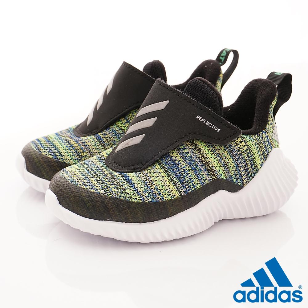 adidas童鞋 FortaRun針織款 TW688黑彩(寶寶段)