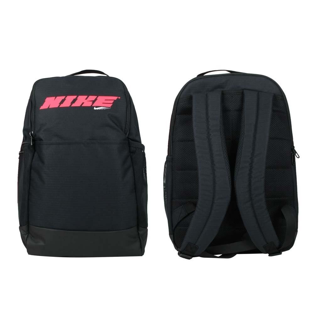 NIKE 後背包-BRASILIA 雙肩包 肩背包 旅行包 24L CU9498-010 黑紅白
