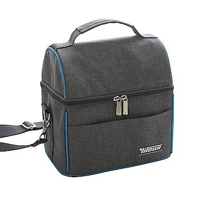灰藍野餐保溫保冰袋(NTC-80050)