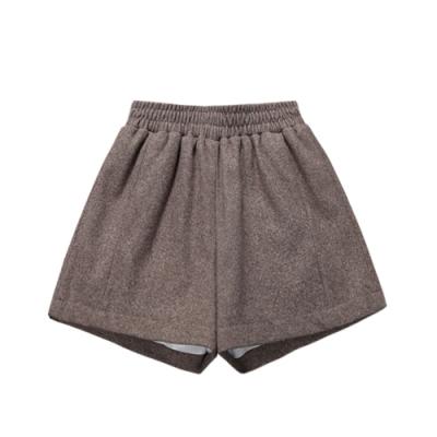 素面毛呢短褲 共二色 TATA-(M~XL)
