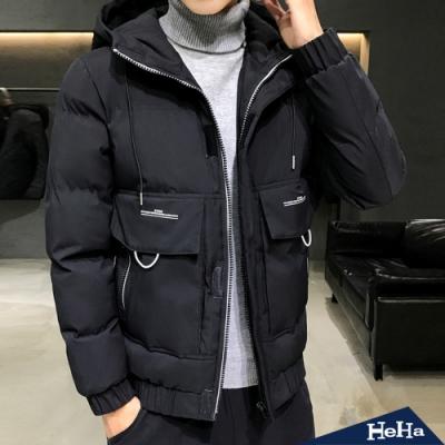HeHa-大口袋連帽保暖外套 兩色