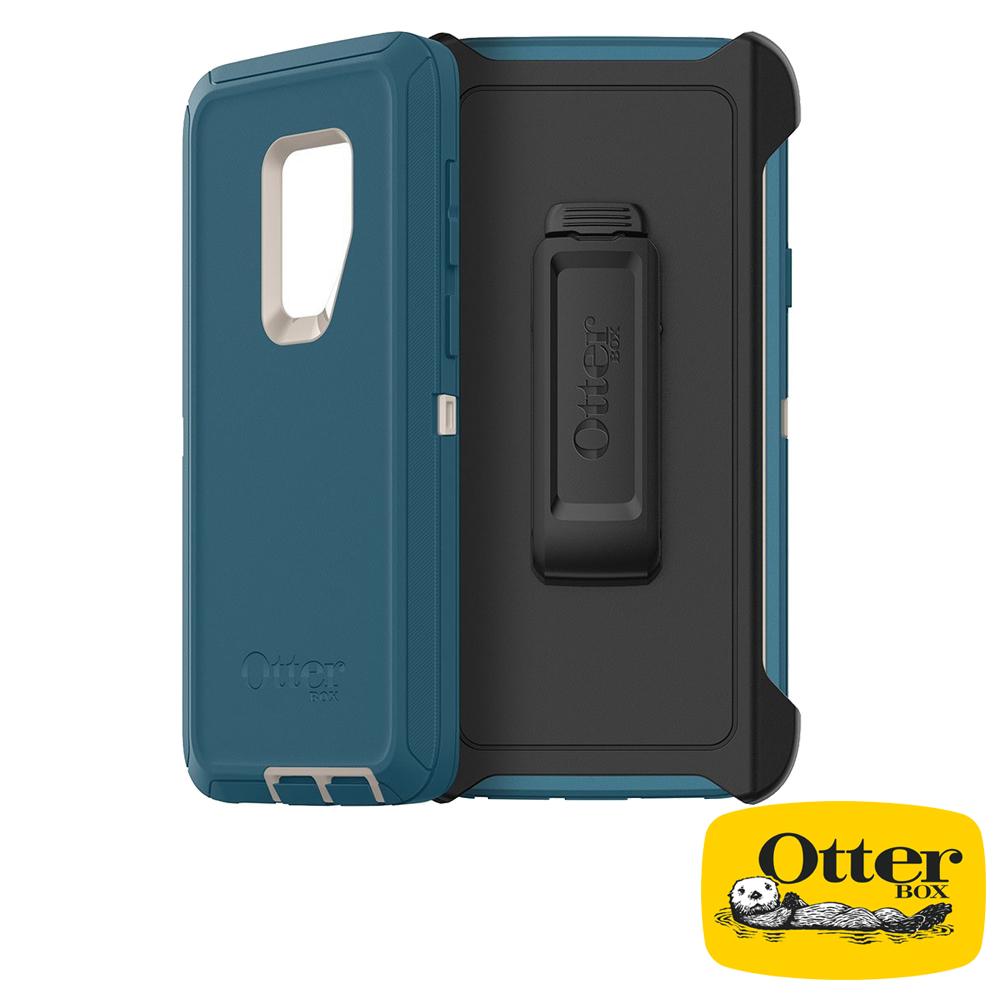 OtterBox Galaxy S9+防禦者系列保護殼-湖水藍
