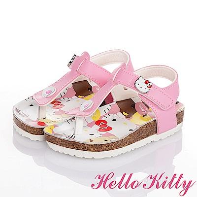 (雙11)HelloKitty 舒適輕量減壓吸震童涼鞋-粉