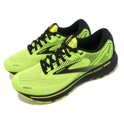Brooks 慢跑鞋 Ghost 14 運動休閒 男鞋 防震 穩定 流暢 柔軟 舒適 黃綠 黑 1103691D770
