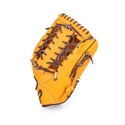 MIZUNO 棒球手套外野手用 黃咖啡