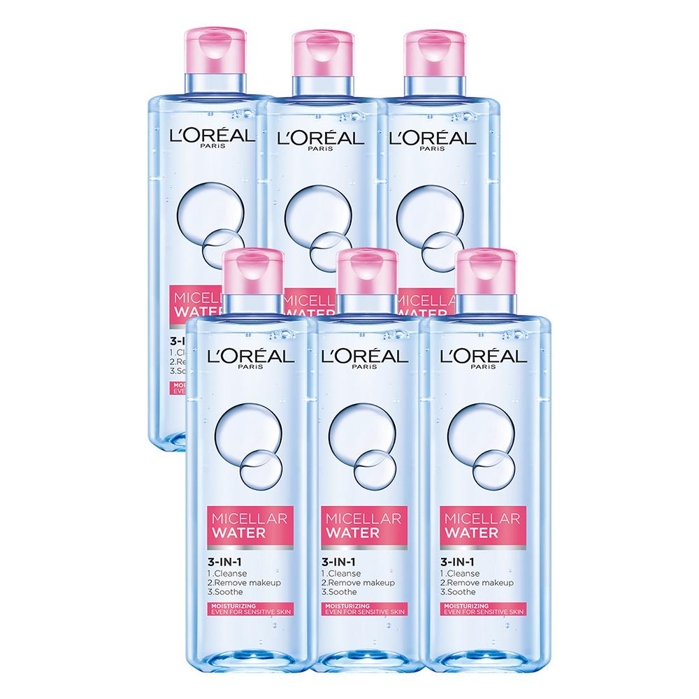 (買三送三)LOREAL Paris 巴黎萊雅 三合一卸妝潔顏水 保濕型400ml