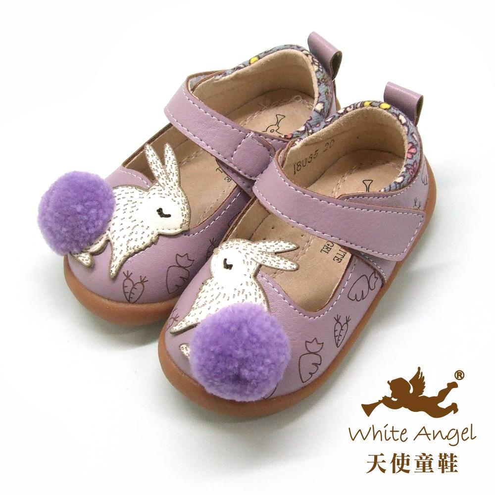 天使童鞋 親親小紫兔娃娃鞋(小-中童)i8035-紫