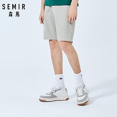 SEMIR森馬-簡約素色彈力休閒短褲-男(3色)