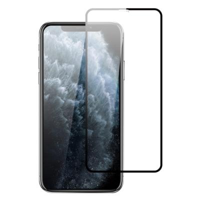 iPhone 11 絲印 滿版 電鍍 9H 鋼化玻璃膜 手機螢幕保護貼