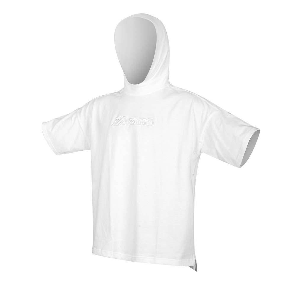 MIZUNO 男 1906系列針織連帽短袖T恤 白