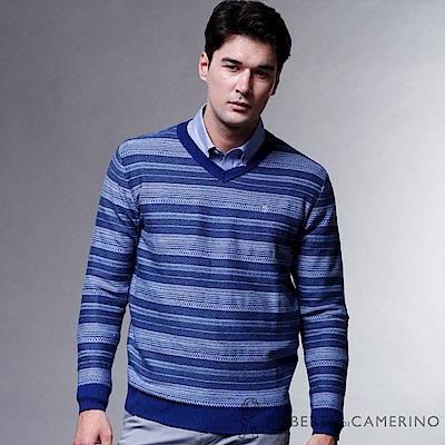 ROBERTA諾貝達  魅力型男 100%純美麗諾羊毛衣 藍