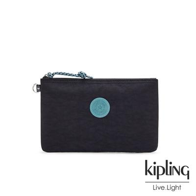 Kipling 靛青拼接星空黑簡約休閒配件包-CASUAL POUCH