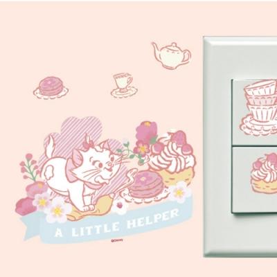 itaste小品味 BID141 瑪麗貓系列開關壁貼-櫻花瑪麗貓