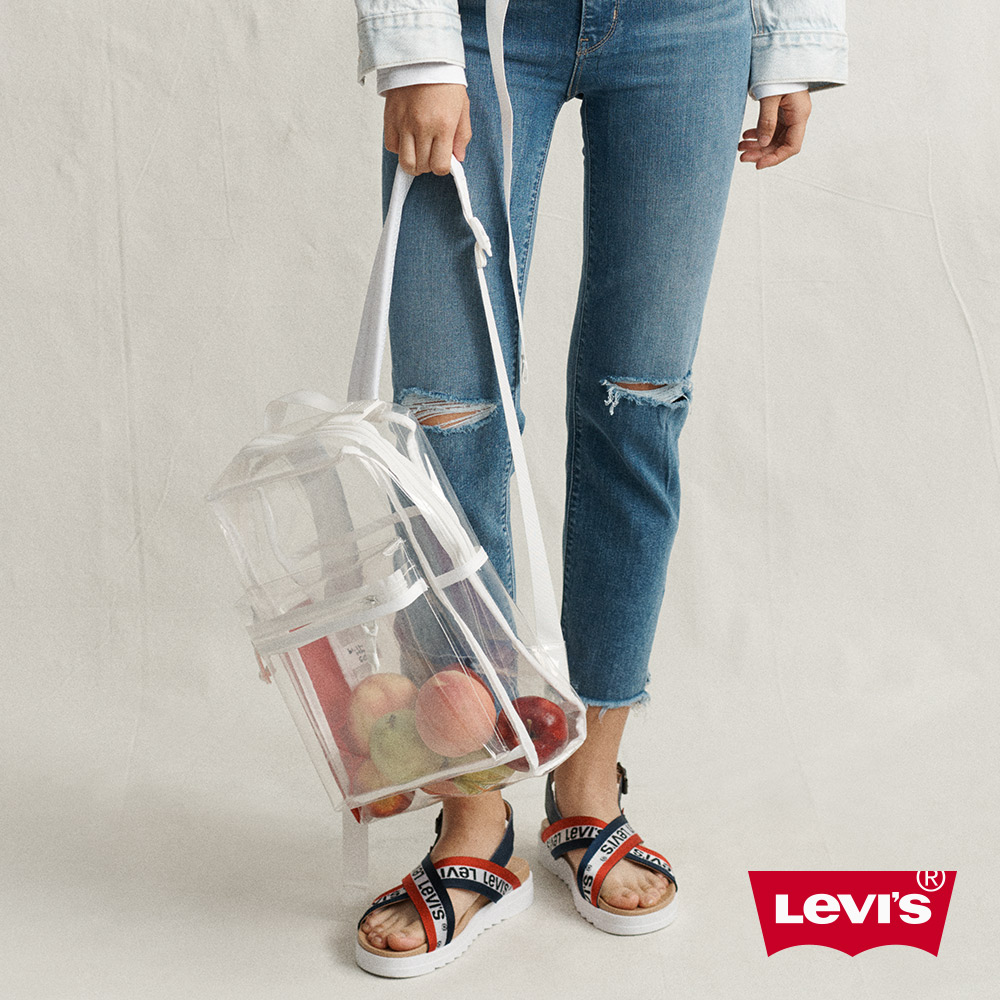 Levis 男女同款 L1後背包 都會電腦包 時尚透視設計