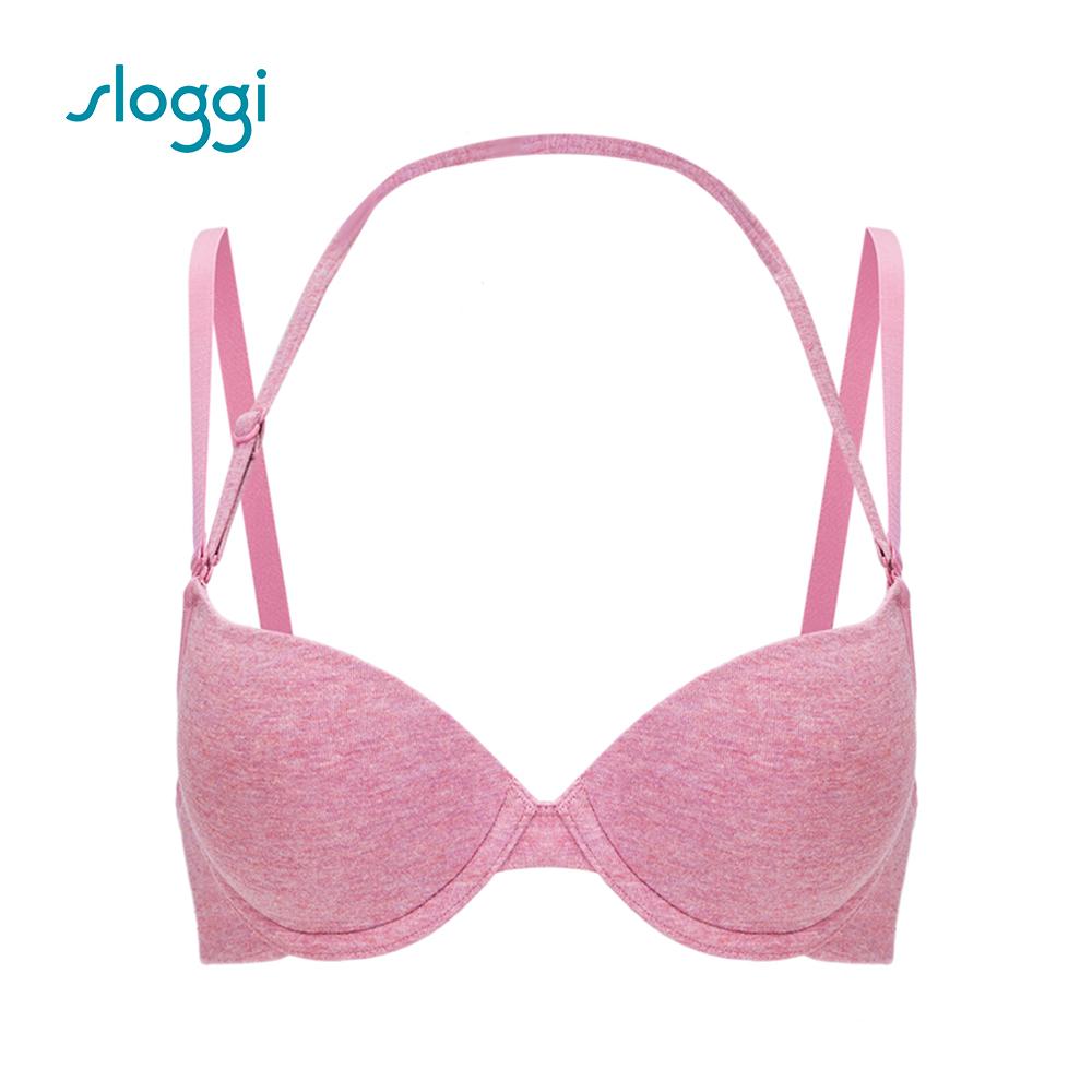 sloggi Everyday 有機過生活系列下厚上薄罩杯內衣 薔薇粉