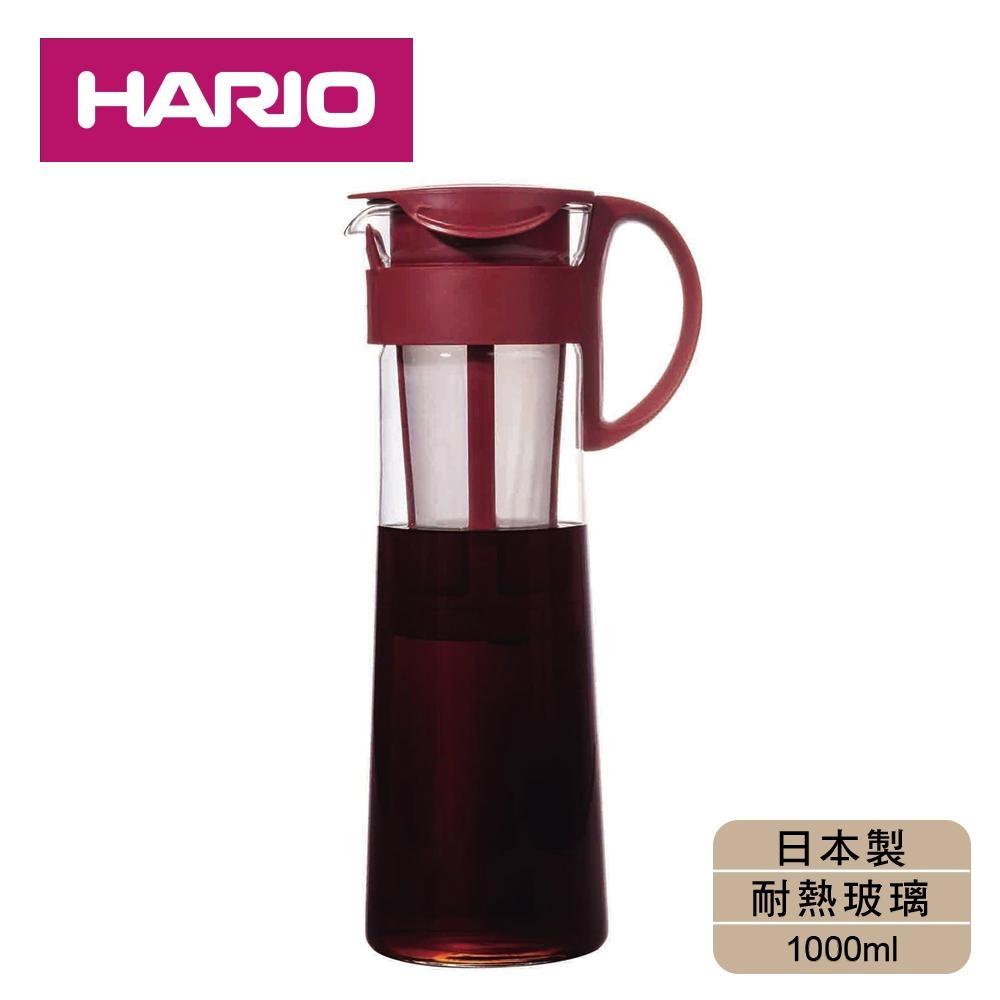 [日本HARIO]冰萃咖啡壺附網1000ml-紅