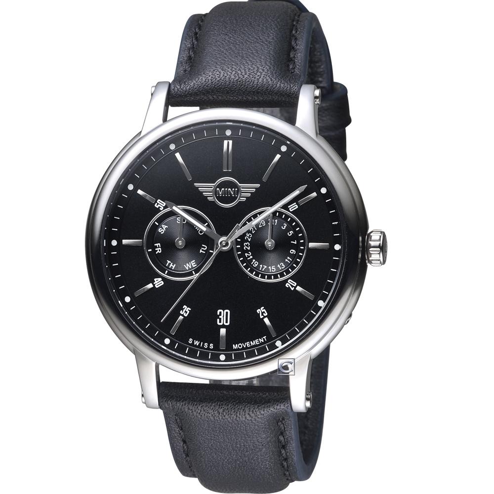 MINI Swiss Watches英式經典腕錶(MINI-160631)-銀殼