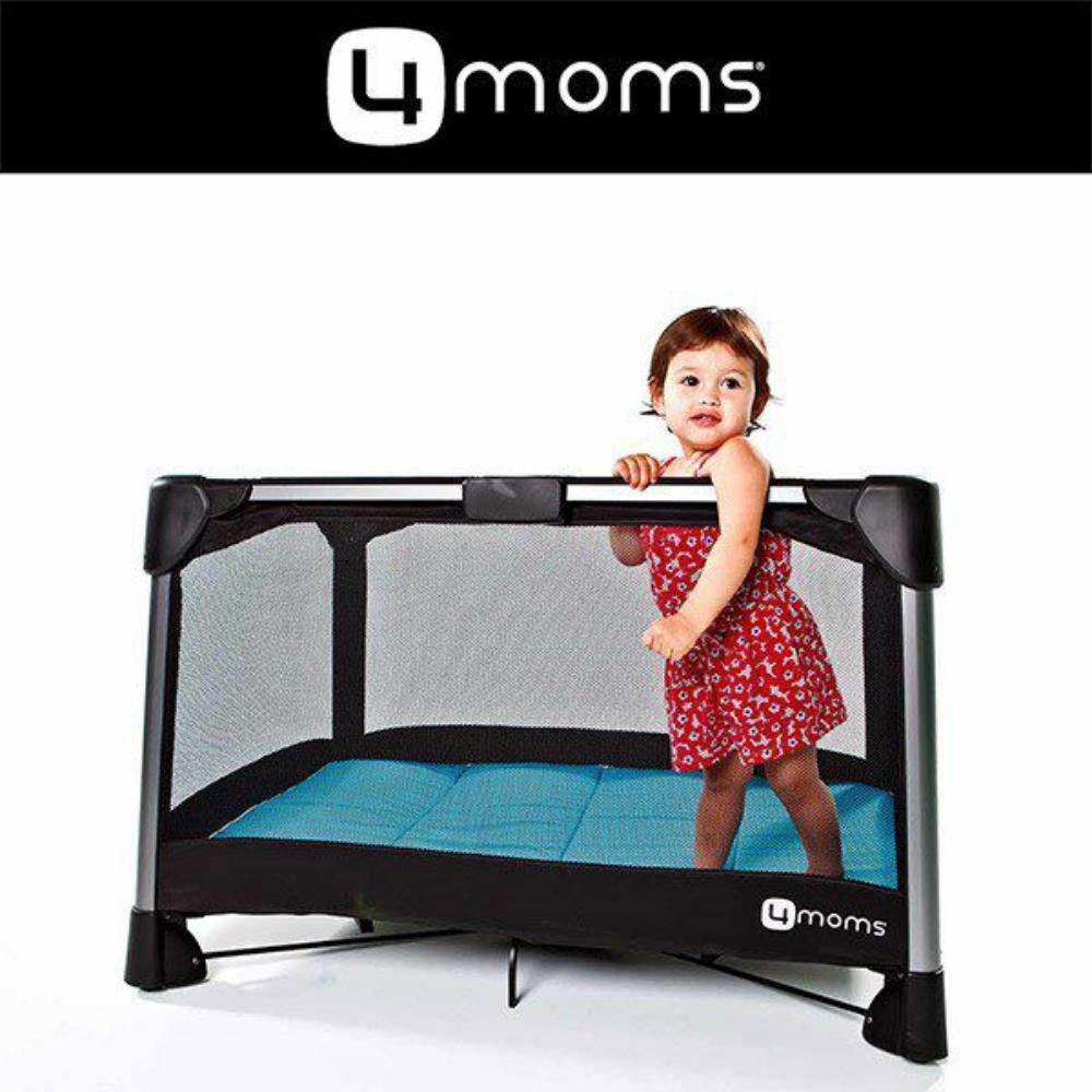 【4moms】微風二合一摺疊遊戲床2.0(藍)