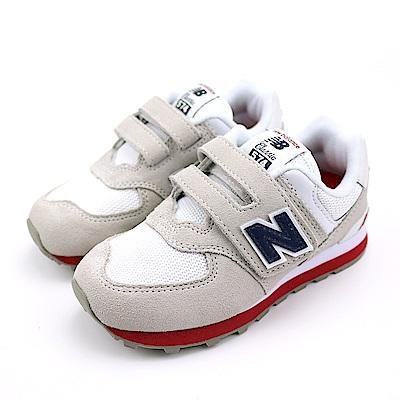 New Balance 中大童休閒鞋-YV574CP-W 灰白