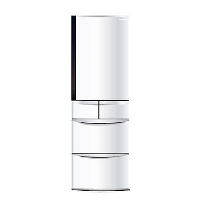 Panasonic國際牌 411L 1級變頻5門電冰箱 NR-E412VT 晶鑽白