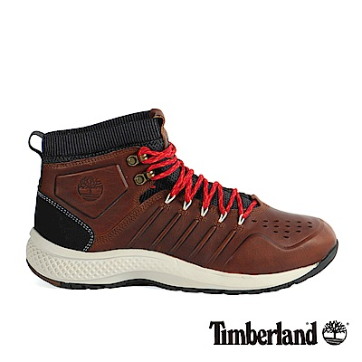 Timberland 男款FlyRoam Trail小麥黃皮革真皮靴
